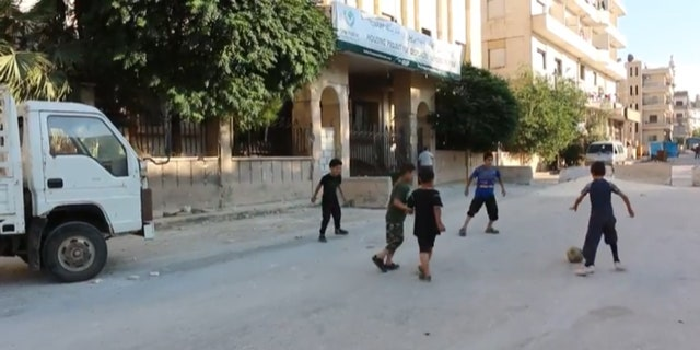 Fears that children will be caught in the crossfire in Idlib, Syria