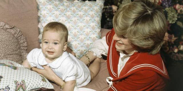 Britain's Prince William, the 6-month old son of British Prince Charles and Princess Diana, during a special picture call at Kensington Palace in London.