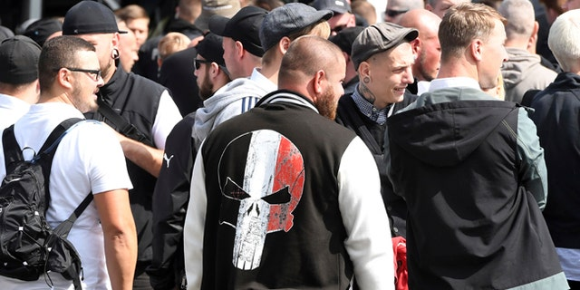 Far-right extremists gather to commemorate the death of Adolph Hitler's deputy