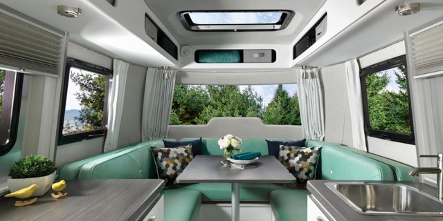Perhaps the most striking interior features are the panoramic windows reportedly modeled after ski goggles.