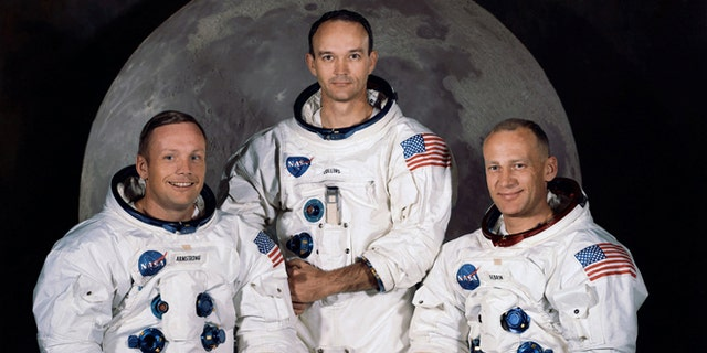 1. Neil Armstrong Apollo 11 1969 The crew of the Apollo 11 mission- from left Neil Armstrong Mission Commander Michael Collins Lt. Col. USAF and Edwin Eugene Aldrin also known as Buzz Aldrin USAF Lunar Module pilot. In all 12 Americans walked