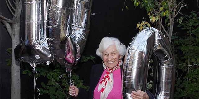 Zlotnik celebrating her birthday last year.