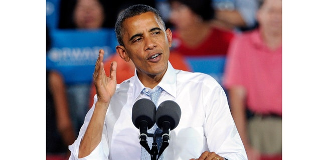 Sept. 30, 2012: President Obama speaks in Las Vegas.