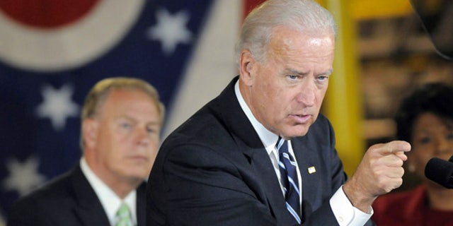 Oct. 4: Vice President Joe Biden at a campaign rally in Youngstown, Ohio.