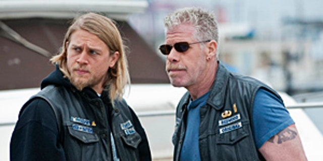 Charlie Hunnam and Ron Perlman in 'Sons of Anarchy' (Prashant Gupta / FX)