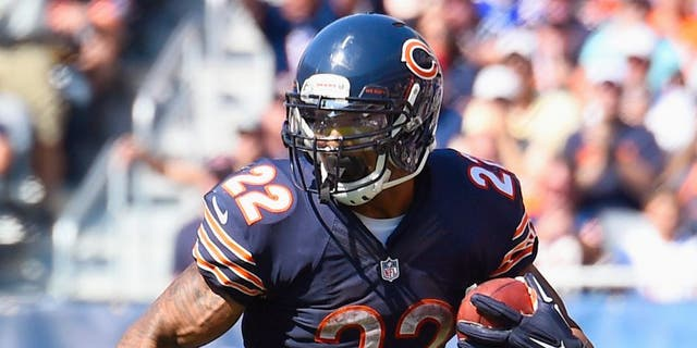Sep 7, 2014; Chicago, IL, USA; Chicago Bears running back Matt Forte (22) during the second half at Soldier Field. Mandatory Credit: Mike DiNovo-USA TODAY Sports