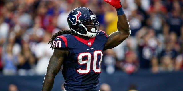 Houston Texans defensive end, Jadeveon Clowney, 26, has been traded to the Seattle Seahawks in a multi-player deal on Saturday. (Troy Taormina-USA TODAY Sports)