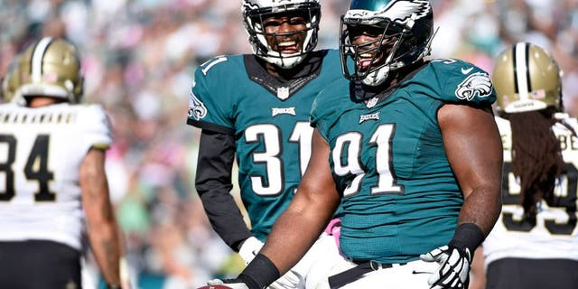 Westlake Legal Group 101115-NFL-Eagles-Fletcher-Cox-pi-s-54c74a91b0850510VgnVCM100000d7c1a8c0____ Fletcher Cox's 911 burglary call released, tells police: 'I'm about to blow his brains out' Melissa Leon fox-news/us/crime fox-news/sports/nfl/philadelphia-eagles fox-news/sports/nfl fox news fnc/sports fnc article a93caaec-5bbe-506b-9be7-b3d25de47c67