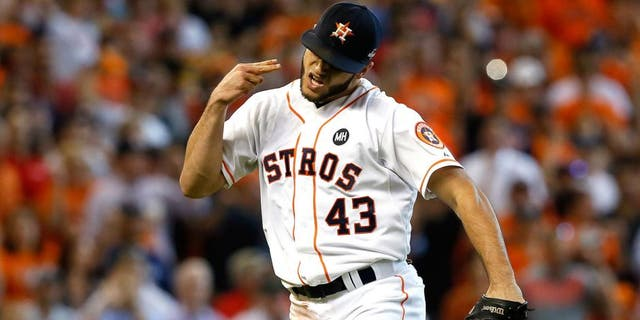 Houston Astros pitcher Lance McCullers, shown during a 2015 game, criticized the Texas Rangers for not working out a deal to keep this week's games in Texas.