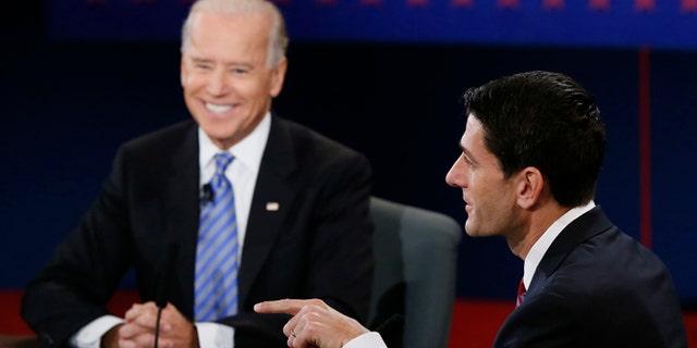 Oct. 11, 2012: Joe Biden and Paul Ryan participate in the vice presidential debate.