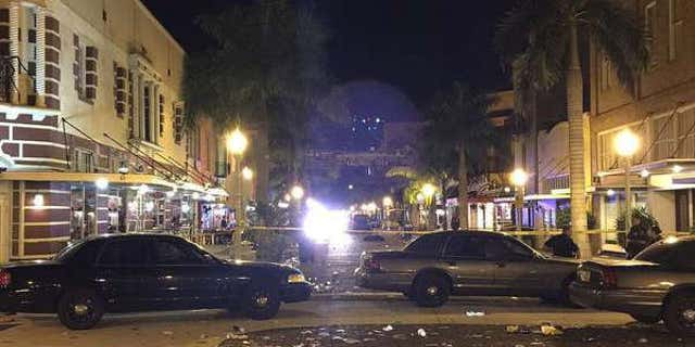 Fort Myers Police investigate a shooting at ZombiCon in Fort Myers, Fla.