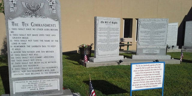 The city of Bloomfield in New Mexico recently filed a petition with the U.S. Supreme Court to review their case, which involved opposition by two local practicing Wiccans who took issue with this Ten Commandments Monument being placed on the front lawn of City Hall.