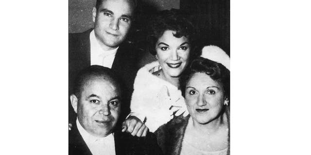 Connie Francis (center) with her mother, father and brother George.