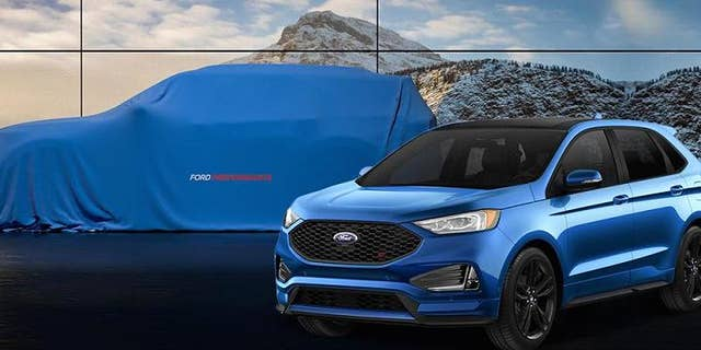 The next-generation Ford Explorer (under the cover) will be offered in a high performance ST model.