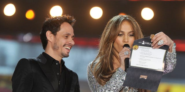 Marc Anthony and Jennifer Lopez during The 53rd Annual Grammy Awards held at Staples Center on Feb. 13, 2011, in Los Angeles, Calif.
