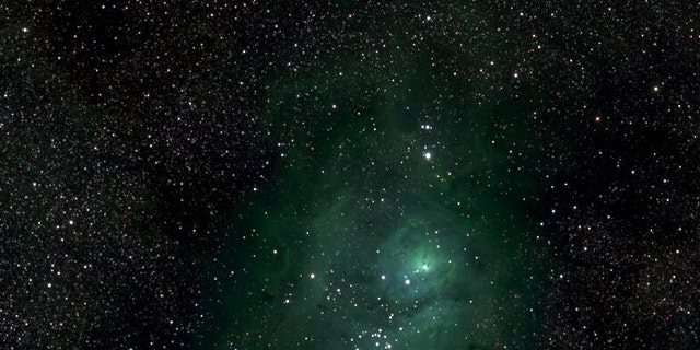 This is a small section of the Milky Way photo showing the M8 nebula.
