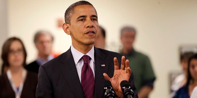 Oct. 30, 2012: President Barack Obama speaking during the his visit to the Disaster Operation Center of the Red Cross National Headquarter in Washington.