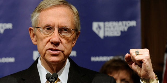 Nov. 3: Senate Majority Leader Harry Reid speaks during a post-election news conference in Las Vegas.