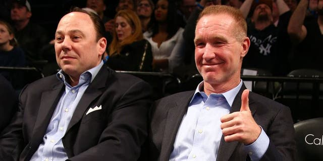 NEW YORK, NY - APRIL 13: Former player Chris Mullin attends the game between the Chicago Bulls and Brooklyn Nets on April 13, 2015 at the Barclays Center in the Brooklyn borough of New York City. NOTE TO USER: User expressly acknowledges and agrees that, by downloading and or using this Photograph, user is consenting to the terms and conditions of the Getty Images License Agreement. Mandatory Copyright Notice: Copyright 2015 NBAE (Photo by Nathaniel S. Butler/NBAE via Getty Images)
