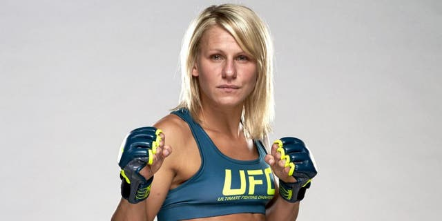 LAS VEGAS, NV - JULY 3: Justine Kish poses for a portrait during the TUF 20 Media Day session at the TUF gym on July 3, 2014 in Las Vegas, Nevada. (Photo by Esther Lin/Zuffa LLC/Zuffa LLC via Getty Images)