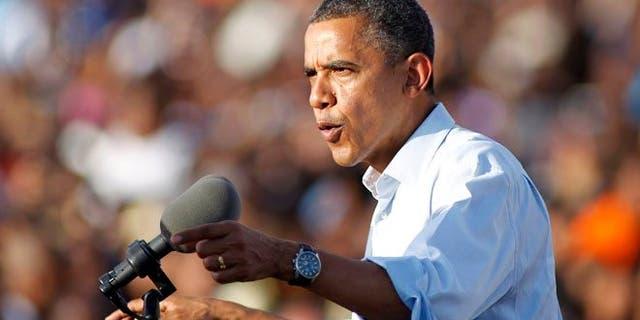 Nov. 4, 2012: President Barack Obama speaks during a campaign event at McArthur High School in Hollywood, Fla.