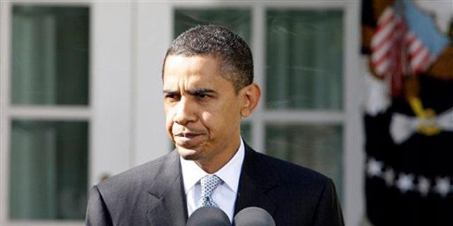 President Barack Obama speaks in the Rose Garden of the White House in Washington, Friday, Nov. 6, 2009.  (AP)