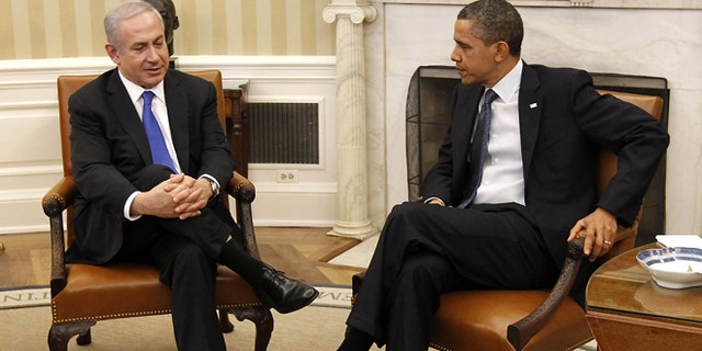 File: March 5, 2012: President Barack Obama meets with Israeli Prime Minister Benjamin Netanyahu in the Oval Office of the White House.
