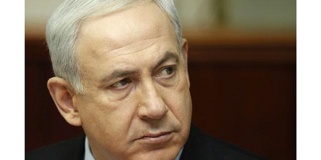 Nov. 4, 2012: Israeli Prime Minister Benjamin Netanyahu attends a weekly cabinet meeting in Jerusalem.