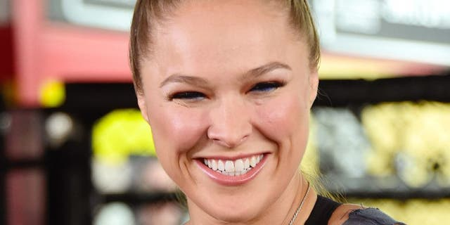 GLENDALE, CA - OCTOBER 27: UFC Champion Ronda Rousey, Hosts Media Day Ahead of The Rousey Vs. Holm Fight at the Glendale Fighting Club on October 27, 2015 in Glendale, California. (Photo by Frazer Harrison/Getty Images)
