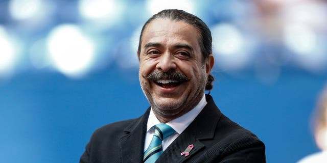 INDIANAPOLIS, IN - OCTOBER 4: Jacksonville Jaguars owner Shahid Khan is seen before the game against the Indianapolis Colts at Lucas Oil Stadium on October 4, 2015 in Indianapolis, Indiana. Indianapolis defeated Jacksonville 16-13. (Photo by Michael Hickey/Getty Images)