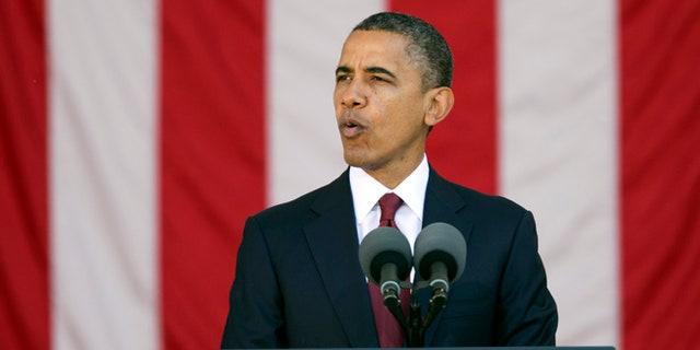 Nov. 11, 2012: President Barack Obama speaks at the annual Veterans Day commemoration at Arlington National Cemetery in Arlington, Va.