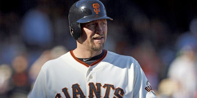 SAN FRANCISCO, CA - SEPTEMBER 23: Aubrey Huff #17 of the San Francisco Giants at bat against the San Diego Padres during the ninth inning at AT&T Park on September 23, 2012 in San Francisco, California. The San Diego Padres defeated the San Francisco Giants 6-4. (Photo by Jason O. Watson/Getty Images)