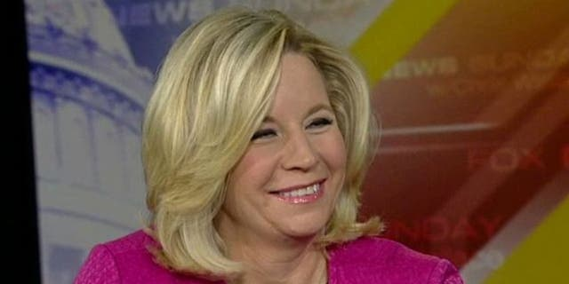 """November 17, 2013: Liz Cheney appears on """"Fox News Sunday,"""" an interview in which she made controversial comments about same-sex marriage and her sister's relationship with a woman."""