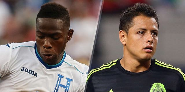 Maynor Figueroa of Honduras during the CONCACAF Gold Cup match between Honduras and Panama at Gillette Stadium on July 10, 2015 in Foxboro, Massachusetts. (Photo by Matthew Ashton - AMA/Getty Images) Javier Hernandez #14 of Mexico against Argentina during a international friendly at AT&T Stadium on September 8, 2015 in Arlington, Texas. (Photo by Ronald Martinez/Getty Images)