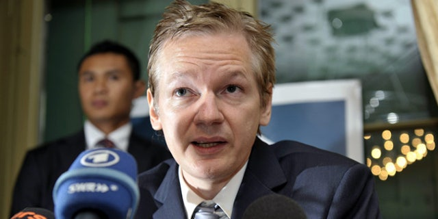 Nov. 4: Wikileaks founder Julian Assange speaks during a press conference in Switzerland.