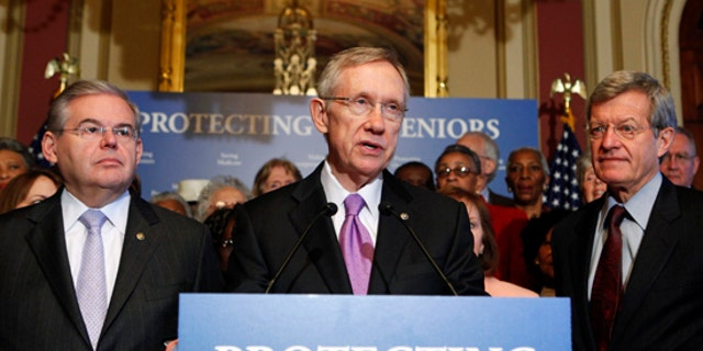 Mar. 24: Senate Majority Leader Harry Reid and other Democrats speak at a health care news conference on Capitol Hill.