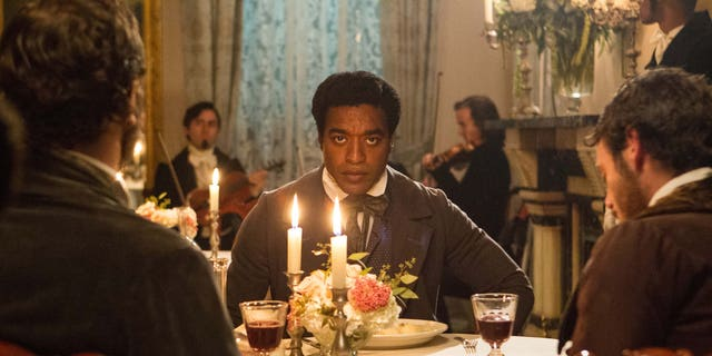 "Chiwetel Ejiofor portrays Solomon Northup in a scene from ""12 Years A Slave."""