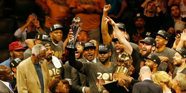 LeBron James brought the Cavaliers back from 3-1 to beat the Golden State Warriors in the 2016 NBA Finals. It was the first NBA title for the Cleveland Cavaliers. (BECK DIEFENBACH/AFP/Getty Images)