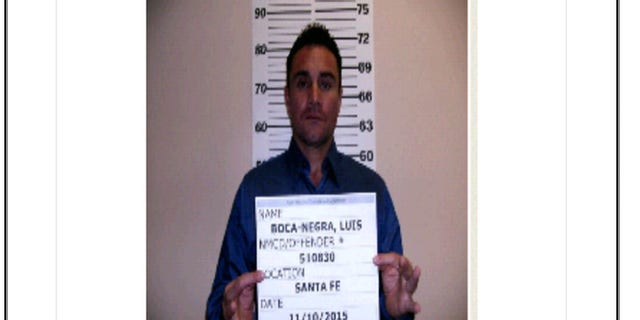 Photo released by the Santa Fe Police Department shows Luis Villalba Boca-Negra, 45, who is a suspect in the a jewelry heist worth just over $1 million.