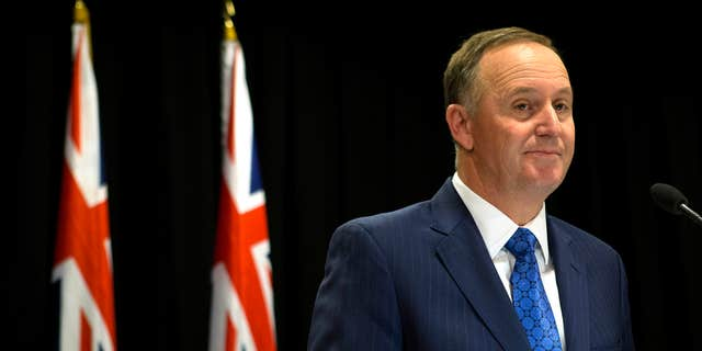 Dec. 5, 2016: New Zealand Prime Minister John Key announces his decision to resign and stand-down from politics at a press conference in Wellington, New Zealand.