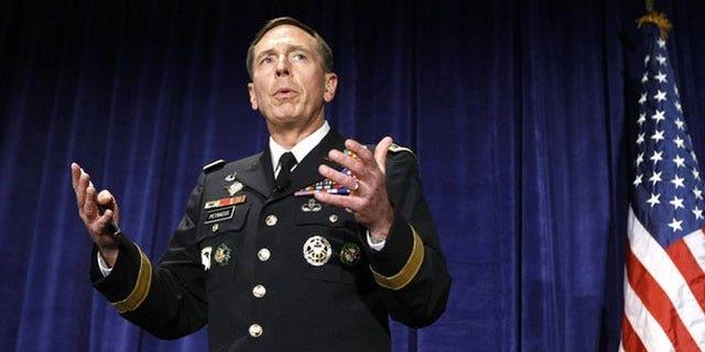 Gen. David Petraeus speaks in October (AP).