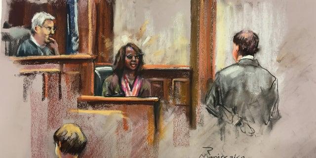 Dylann Roof, bottom left, in court last week.