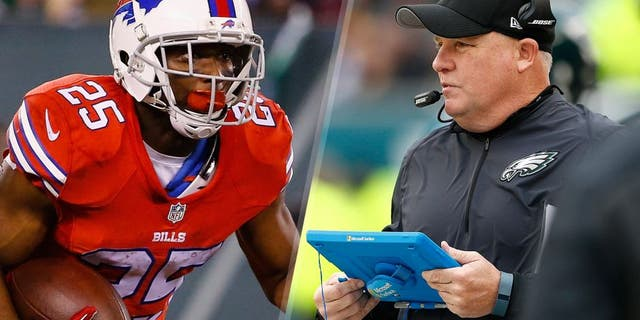 LeSean McCoy #25 of the Buffalo Bills runs against the New York Jets during their game at MetLife Stadium on November 12, 2015 in East Rutherford, New Jersey. (Photo by Al Bello/Getty Images) Head coach Chip Kelly of the Philadelphia Eagles in the sideline in the second quarter against the Tampa Bay Buccaneers at Lincoln Financial Field on November 22, 2015 in Philadelphia, Pennsylvania. (Photo by Rich Schultz/Getty Images)
