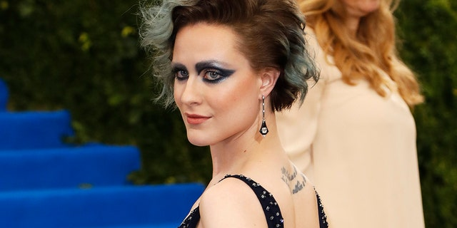 "The ""Westworld"" star at the 2017 Met Gala."