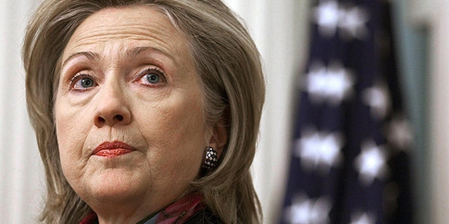 In this Nov. 29, 2010 file photo, Secretary of State Hillary Rodham Clinton makes a statement at the State Department in Washington.