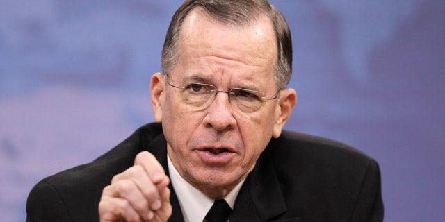 Nov. 30: Joint Chiefs Chairman Adm. Mike Mullen speaks to reporters on gays in the military at the Pentagon.