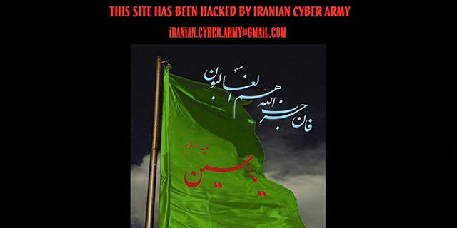 Dec. 18: A screenshot of Twitter.com shows the site defaced by a group calling itself the 'Iranian Cyber Army.'