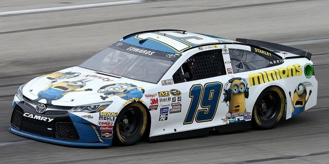 SPARTA, KY - JULY 10: Carl Edwards, driver of the #19 Comcast/Minions Toyota, practices for the NASCAR Sprint Cup Series Quaker State 400 Presented by Advance Auto Parts at Kentucky Speedway on July 10, 2015 in Sparta, Kentucky. (Photo by Brian Lawdermilk/NASCAR via Getty Images)