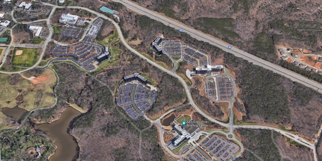 The 900-acre campus of SAS in Cary, North Carolina.