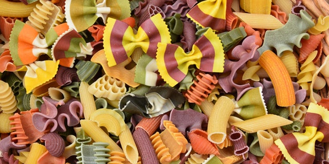 colorful pasta Background